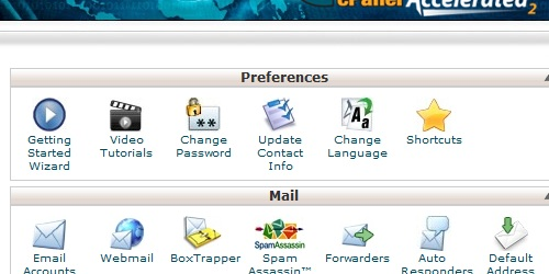 Open the Update Contact Information link within cPanel.