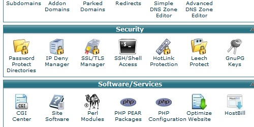 Open the Hotlink Protection link in cPanel.